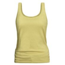 TSE Cashmere-Silk Tank Top - Scoop Neck (For Women) in Chamomile - Closeouts