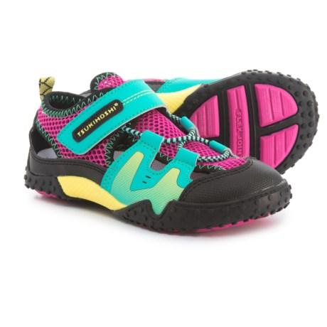 Tsukihoshi Ibiza Sport Sandals (For Girls) in Teal/Fuchsia