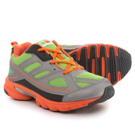 Tsukihoshi Spark Sneakers (For Boys) in Green/Orange
