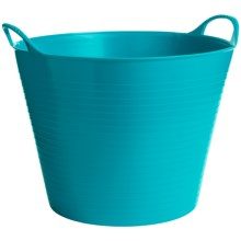 Tubtrug Medium Flexible Tub - 6.9 gal. in Turquoise - Closeouts