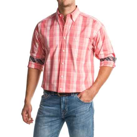 Tuf Cooper Large Check Shirt - Long Sleeve (For Men) in Pink Plaid - Closeouts