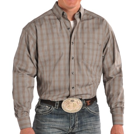 Tuf Cooper Performance by Panhandle Slim Competition Fit Herringbone Shirt Long Sleeve (For Men)