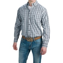 Tuf Cooper Performance by Panhandle Slim Competition Fit Herringbone Shirt - Long Sleeve (For Men) in Royal - Closeouts