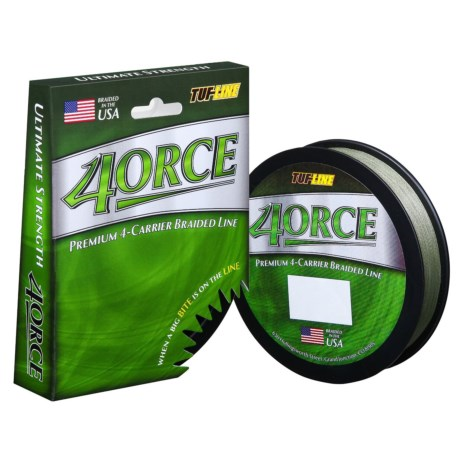Tuf-Line 4orce 4-Carrier Braided Fishing Line - 125 yds. in Green