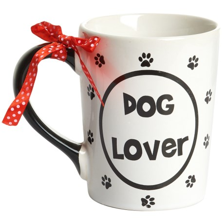 Tumbleweed Dog Lover Ceramic Mug - 20 fl.oz. in Black/White