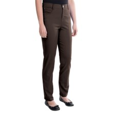 Tummy Control Skinny Jeans - Stretch Cotton (For Women) in Chocolate - 2nds