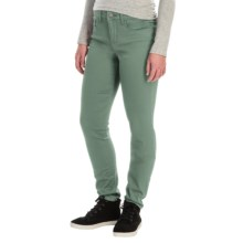 Tummy Control Skinny Jeans - Stretch Cotton (For Women) in Dark Sage - 2nds