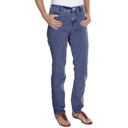 Tummy Control Skinny Jeans - Stretch Cotton (For Women) in Denim - 2nds