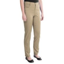 Tummy Control Skinny Jeans - Stretch Cotton (For Women) in Khaki - 2nds