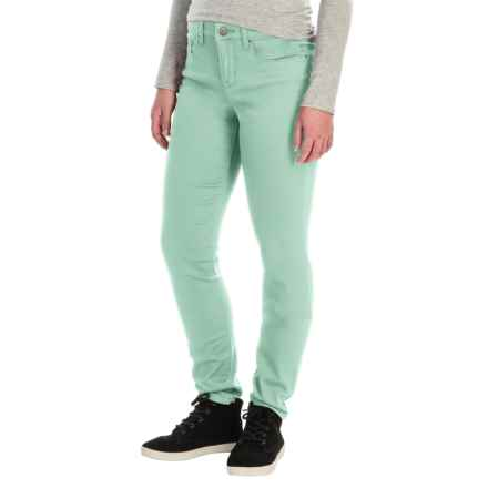 Tummy Control Skinny Jeans - Stretch Cotton (For Women) in Mint - 2nds