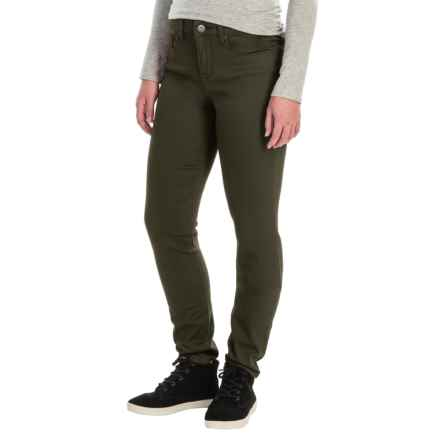 Tummy Control Skinny Jeans - Stretch Cotton (For Women) in Olive - 2nds