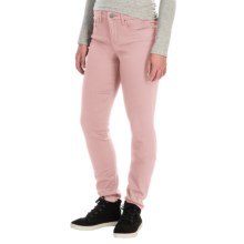 Tummy Control Skinny Jeans - Stretch Cotton (For Women) in Peach - 2nds