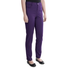 Tummy Control Skinny Jeans - Stretch Cotton (For Women) in Plum - 2nds