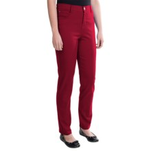 Tummy Control Skinny Jeans - Stretch Cotton (For Women) in Red - 2nds