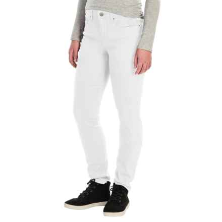 Tummy Control Skinny Jeans - Stretch Cotton (For Women) in White - 2nds