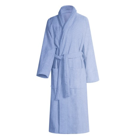 Turkish 14 oz. Cotton Terry Robe (For Women) in Ceil