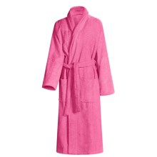 Turkish 14 oz. Cotton Terry Robe (For Women) in Deep Pink - Closeouts