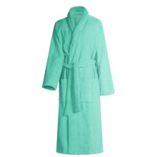 Turkish 14 oz. Cotton Terry Robe (For Women) in Lucite Green - Closeouts