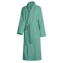 Turkish 14 oz. Cotton Terry Robe (For Women) in Peacock - Closeouts