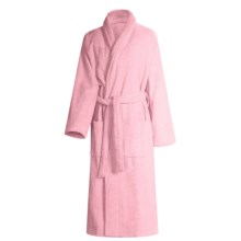 Turkish 14 oz. Cotton Terry Robe (For Women) in Pearl Pink - Closeouts