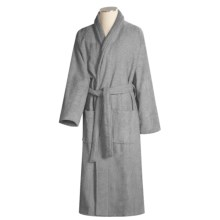 Turkish 14 oz. Cotton Terry Robe (For Women) in Pewter - Closeouts