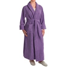 Turkish 14 oz. Cotton Terry Robe (For Women) in Plum - Closeouts