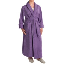 Turkish 14 oz. Cotton Terry Robe (For Women) in Lavender