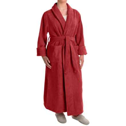 Turkish 14 oz. Cotton Terry Robe (For Women) in Rich Red - Closeouts