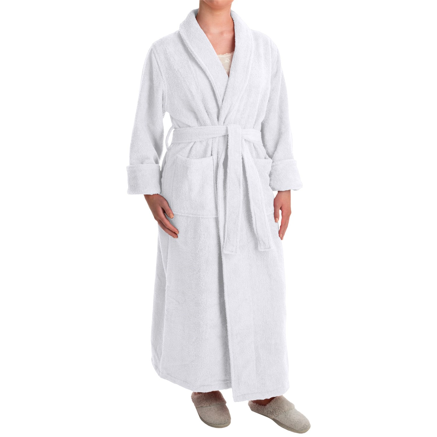 Terry cloth robe for women
