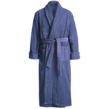 Turkish Cotton Terry Robe - Closeouts (For Men) in Blue River - Closeouts