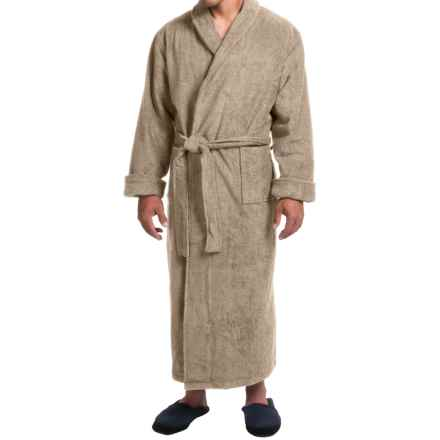 Turkish Cotton Terry Robe - Closeouts (For Men) in Camel - Closeouts