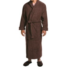 Turkish Cotton Terry Robe - Closeouts (For Men) in Chocolate - Closeouts