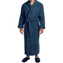 Turkish Cotton Terry Robe - Closeouts (For Men) in Midnight - Closeouts