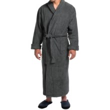 Turkish Cotton Terry Robe - Closeouts (For Men) in Slate - Closeouts