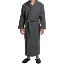 Turkish Cotton Terry Robe - Closeouts (For Men) in Chocolate