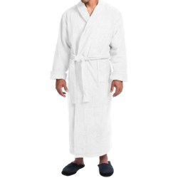 Turkish Cotton Terry Robe - Closeouts (For Men) in Midnight