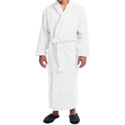 Turkish Cotton Terry Robe - Closeouts (For Men) in White - Closeouts