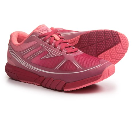 Turner Footwear T-Pump Running Shoes (For Women) in Coral/Burgundy/White