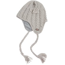 Turtle Fur Merino Wool Boomerang Hat - Ear Flaps, Fully Lined (For Men and Women) in Stone - Closeouts