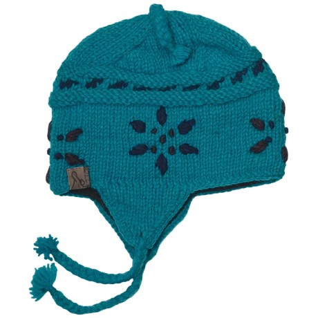 Turtle Fur Nepal Lia Hat - Wool, Ear Flaps (For Kids) in Turquoise