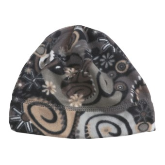 Turtle Fur Printed Fleece Beanie Hat - Micro Fur Fleece (For Women) in Jane Jetson Print