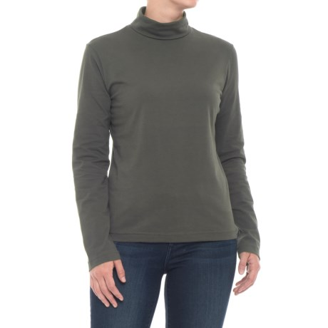 Turtleneck - Stretch Cotton, Long Sleeve (For Women)