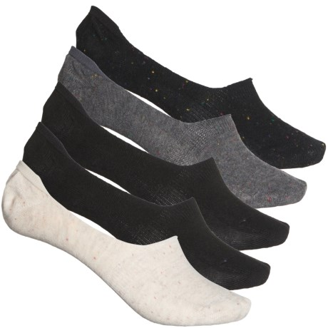 Tweed Liner Socks - 5-Pack, Below the Ankle (For Women) - BLACK (M ) -  Frye and Co.