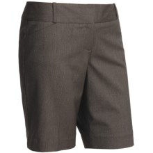 Tweed Stretch Dress Shorts (For Women) in Dark Brown Heather - 2nds