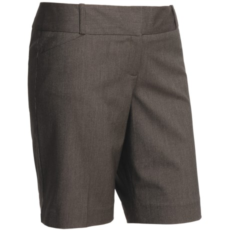 Tweed Stretch Dress Shorts (For Women) in Dark Brown Heather