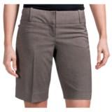 Tweed Stretch Dress Shorts (For Women)