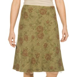 Tweed Tapestry Skirt (For Women) in Olive