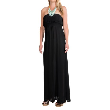 Twelfth Street by Cynthia Vincent Maxi Dress - Strapless (For Women) in Black