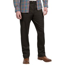Twill Flat-Front Pants (For Men) in Black - 2nds