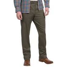 Twill Flat-Front Pants (For Men) in Olive - 2nds